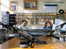 In a radio studio Poli De Romanitate. Turin 2007 © Remus Gabriel Anghel